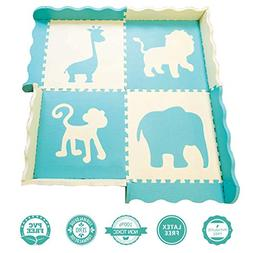 Baby Play Mat w/Fence - Extra Thick , Large  Foam Safety Int