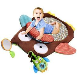 play mat with pillow and toys