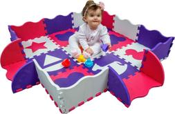 Wee Giggles Play Mats for Infants | Non Toxic Foam Play Mat