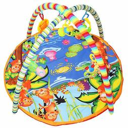 Play Soft Mat Cartoon Animal Gym Blanket Educational Toy wit