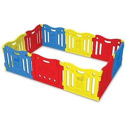 Babycare Funzone Playgate in Red/Yellow/Blue