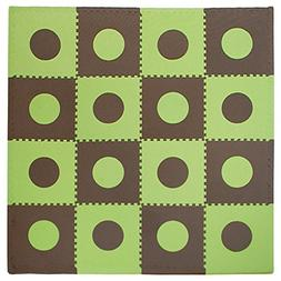 Tadpoles 16 Sq Ft Playmat Set, Green/Brown