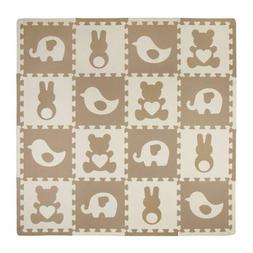 playmat set teddy and friends brown
