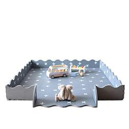 Baby Playmat with Fence by Oliver & Lola . 16 Interlocking F