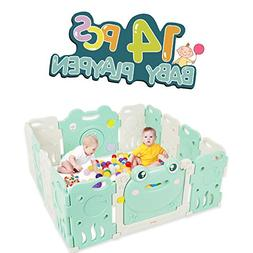 Baby Playpen - Kids 14 Panel Activity Centre Safety Play Yar