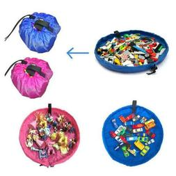 Portable Kids Toy Outdoor Play Mat Rug Toy Pouch Drawstring