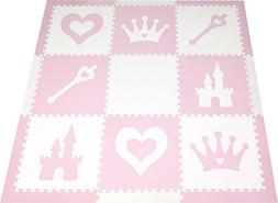 SoftTiles Princess Theme Foam Play Mat | Princess Decor | No