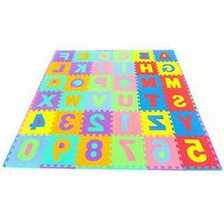 ProSource Puzzle Play Mats Alphabet Numbers PlayMat For Kids