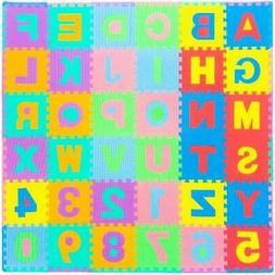 ProSource Puzzle Alphabet and Numbers Foam PlayMat for Kids