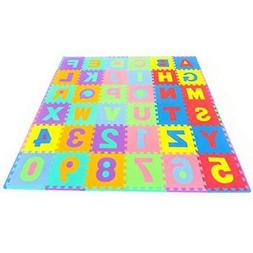 Puzzle Play Mats ProSource Kids Alphabet, Numbers, 36 Tiles