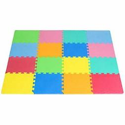 ProSource Puzzle Play Mats Solid Foam For Kids - 16 Tiles Ed
