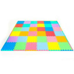 ProSource Puzzle Solid Foam Play Floor M...