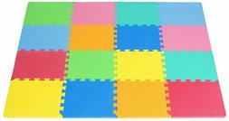 ProSource Puzzle Solid Foam Play Mat for Kids - 36 or 16 til