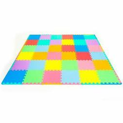 ProSource Puzzle Solid Foam Play Mat for Kids - 36 or 16