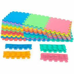ProSource Puzzle Solid Foam Play Mat for Kids - 36 tiles wit
