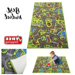 """Race Car Track Rug Play Mat Extra Large 79"""" X 40"""" For Kids C"""
