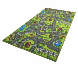 race car track rug play mat