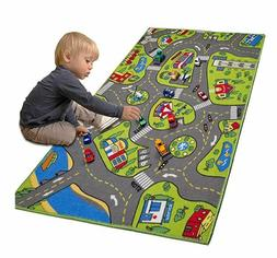 Race Car Track Rug Play Mat For Toddlers Kids Children Boy C