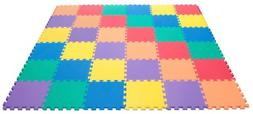 36pcs Foam Playmat Mat Floor Puzzle Rainbow Colorful for Gym
