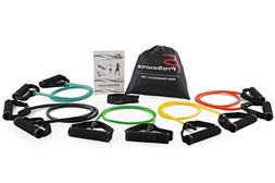 Prosource Fit Tube Resistance Bands Set with Attached Handle