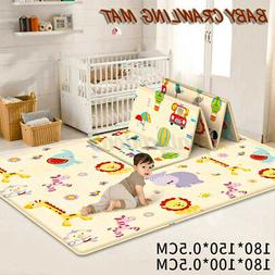 Reversible Baby Kids Play Crawling Mat Cartoon Children Doub