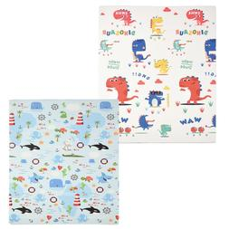 Reversible Baby Play Mat Large Non-Toxic Foam Floor Puzzle M