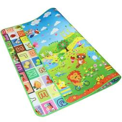 Reversible Kids Activity Mat Baby Children Crawling Care Pla