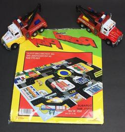 Road Play City Vinyl Mat Police Fire for Toy Cars 36 X 48 Tw
