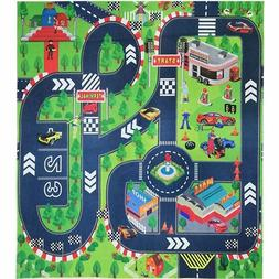 Road Playmat For Toddlers Boys Kids Baby Girls Thick Car Tow