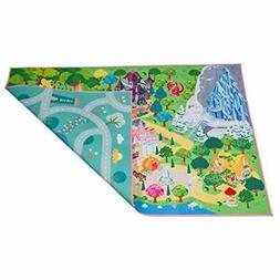 Rugs Kids Double Sided Felt Play Mat - 2 In 1 Princess &amp