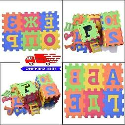 Russian Alphabet Letters With Numbers Play Mat Puzzle Toys S