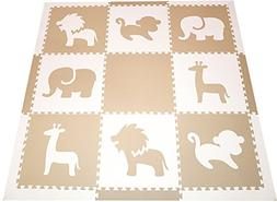 SoftTiles Safari Animals Premium Interlocking Foam Large Chi