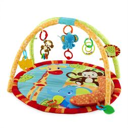 Bright Starts Safari Tales Activity Gym Playmat with Prop-Up