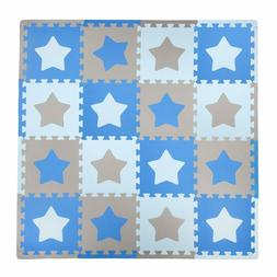 Tadpoles Soft EVA Foam 16 pcs Playmat Set, Stars,50x50 -For