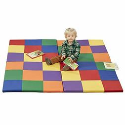 "Softzone Patchwork Toddler Foam Play Mat 58"" Square Floor Ru"