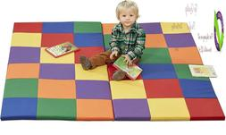 Ecr4Kids Softzone Patchwork Toddler Foam Play Mat, 58-Inch S