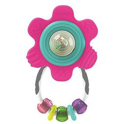 Infantino Sparkle Spin and Teethe Gummy Flower Rattle