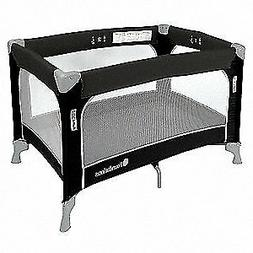 FOUNDATIONS Steel Play Yard Crib,Gray,3/4 In. Mattress, 1456