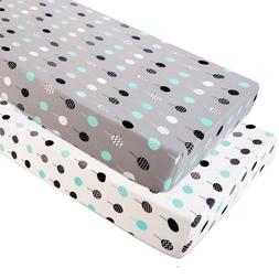 Stretchy Fitted Pack n Play Playard Sheet Set-Brolex 2 Pack