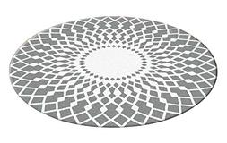 Stylish Round Area Rug Chair Mat Living Room Bedroom Carpet