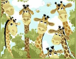 "Susybee~Zoe Giraffe Play Mat 35"" x 44"" Children's Cotton Fab"