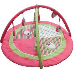 Pam Grace Creations 6 Piece Sweet Dream Owl Play Gym, Pink