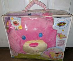 TAGGIES TAGS N SNUGGLES LARGE PLUSH PINK BEAR BABY PLAY MAT