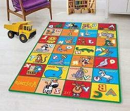 Teaching ABC Animals Kids Rugs Educational play mat Non-Slip