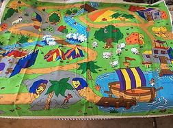 THE BEGINNERS BIBLE PLAY MAT PANEL FABRIC AND CHARACTERS BY