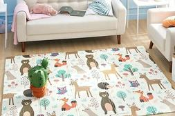 Thick Foldable Floor Play Mat for infants and toddlers