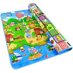 Fani Toddler Play Crawl Mat Baby Playmat Thick&Large Double