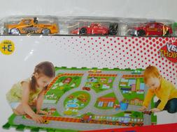 Die Cast 3 Cars Play Mat Set Small Town
