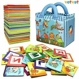 teytoy Baby Toy Zoo Series 26pcs Soft Alphabet Cards with Cl