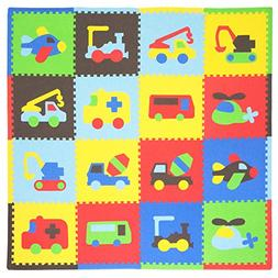 Tadpoles Transport 16-Piece Playmat Set